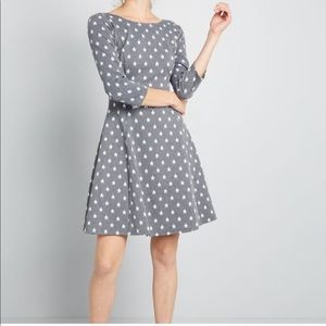 ModCloth Impact Made Easy Knit Stars Dress